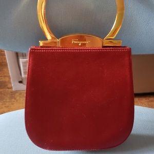 Ferragamo Burgundy Bag
